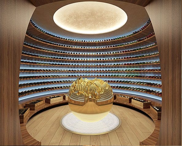 outstanding wine cellar design