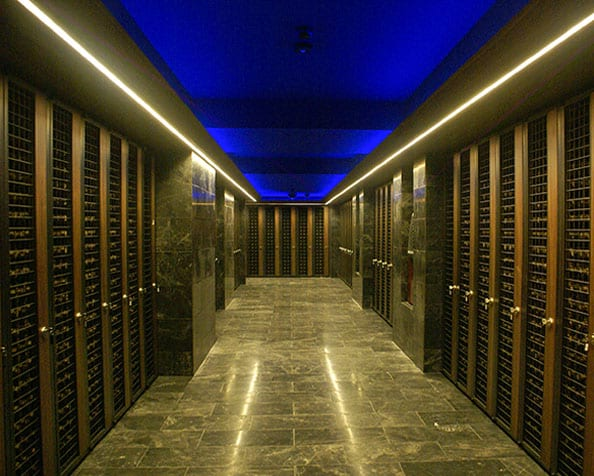 commercial cellars for restaurant and hotels