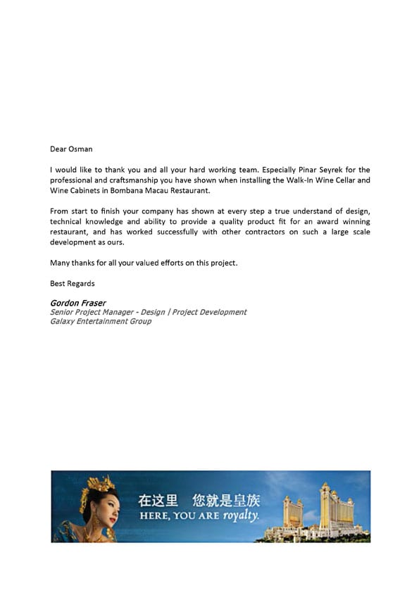 Galaxy Entertainment Group - Commercial Testimonial