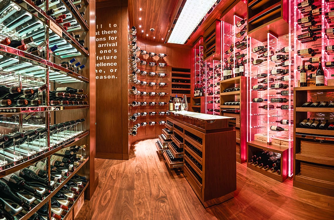 Wine Cellar of Ritz Carlton Hotel in Galaxy Macau