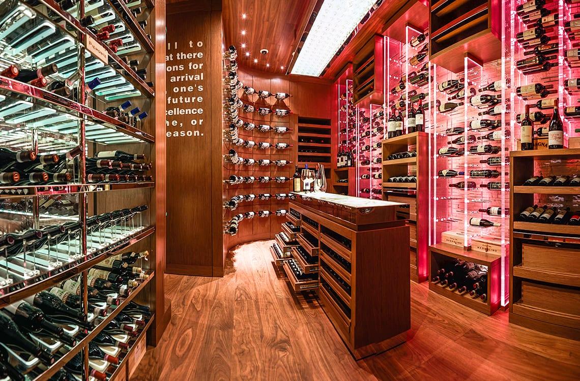 Wine Cellar of Ritz Carlton Hotel in Galaxy Macau