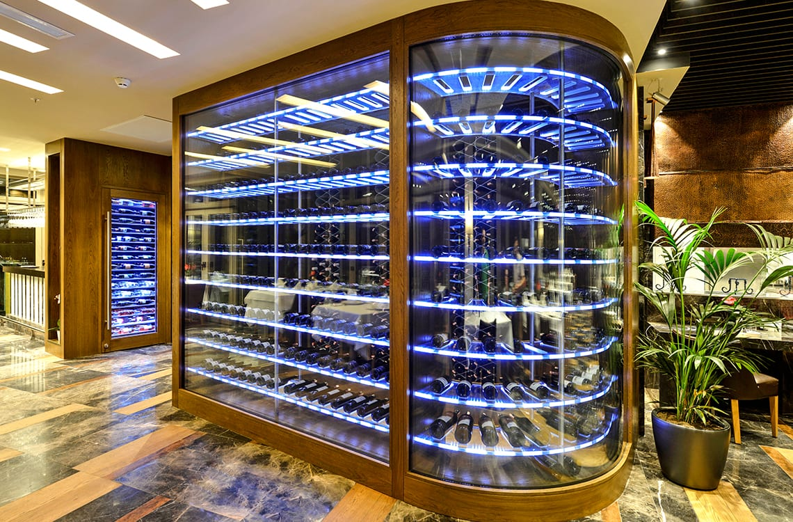 Curved Glass Wine Cellar