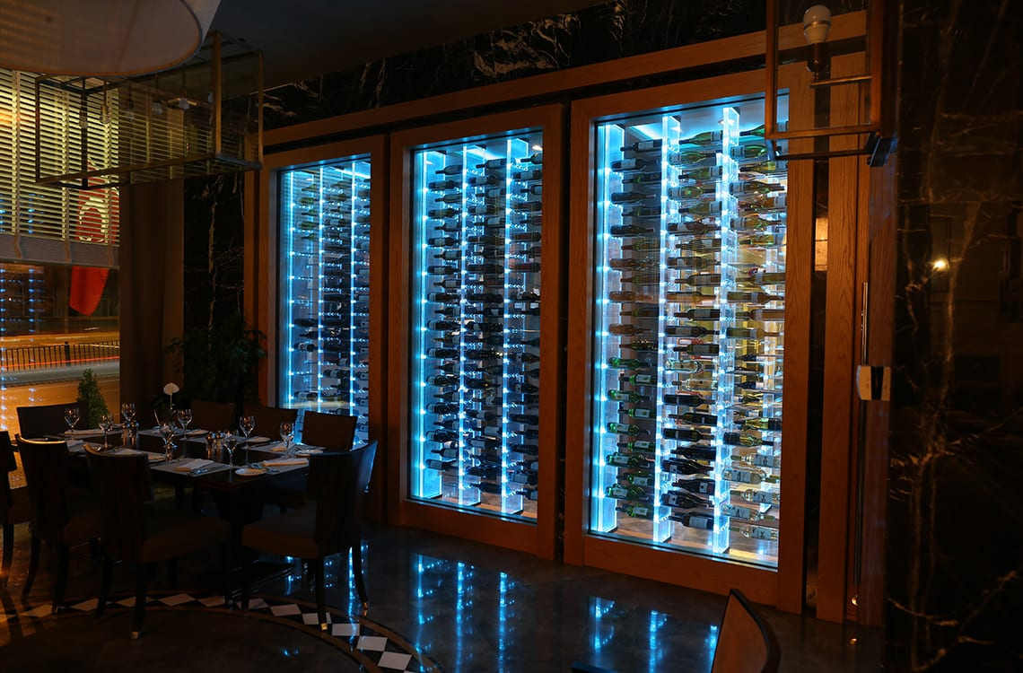 Wine Cellar with Acyrlic Wine Racks