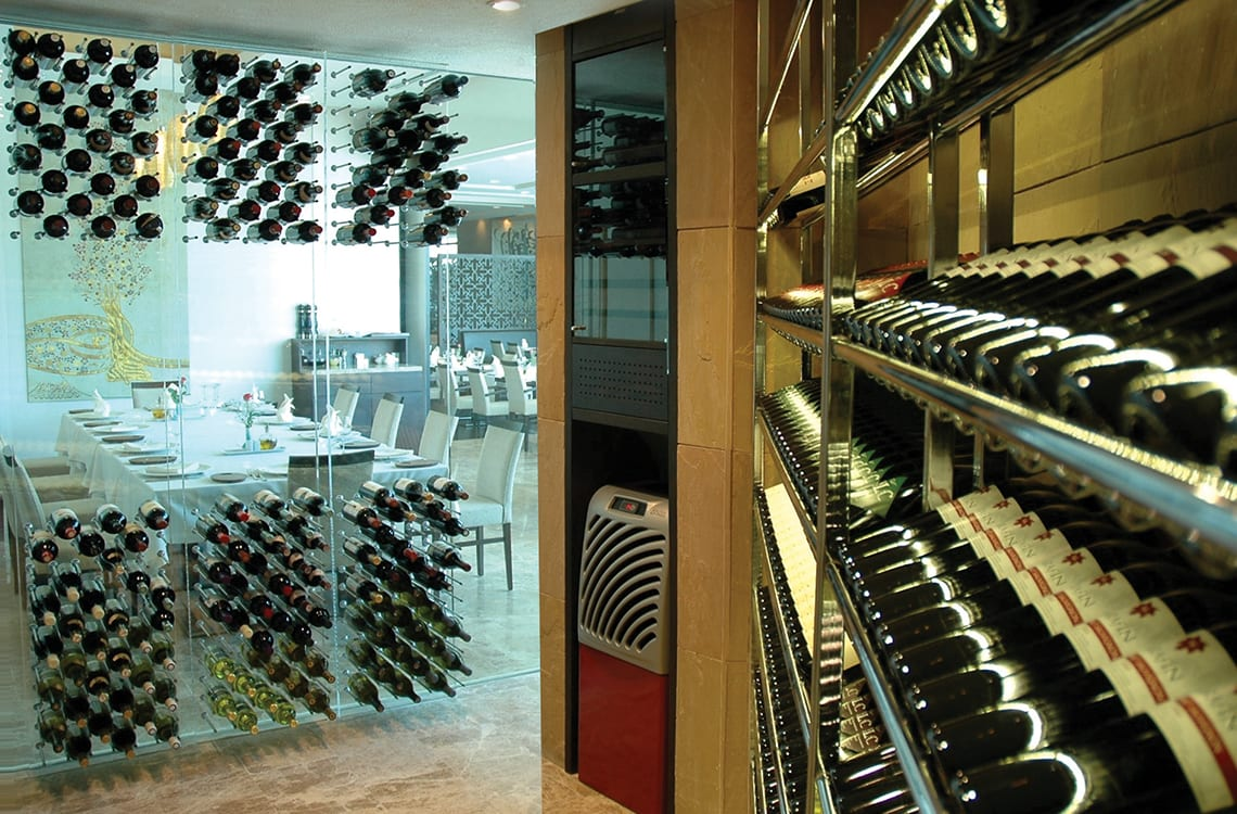 Wine Cellar with Metal Wine Racks