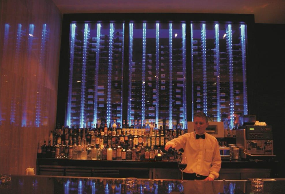 Wine Wall Behind the Bar - Borsa Restaurant