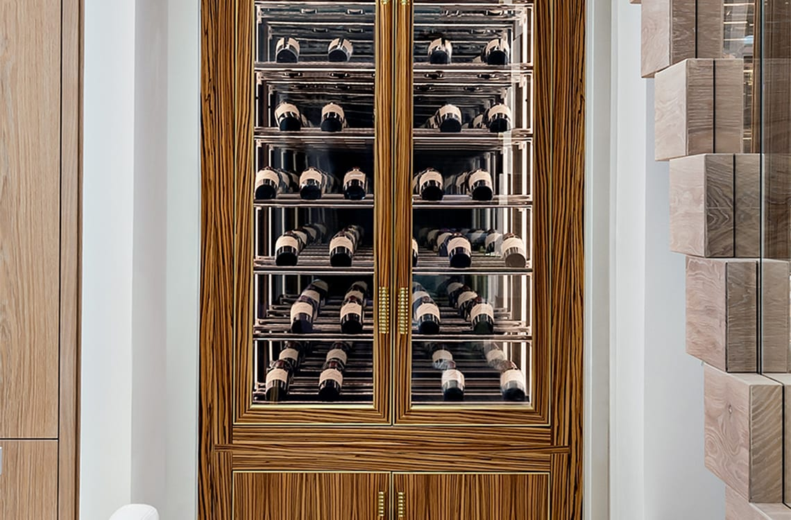 Wine Cabinet in a Luxurious Private Cottage