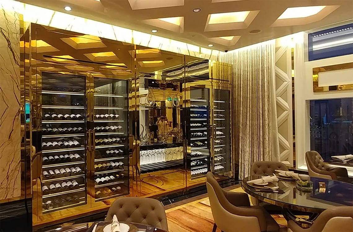 Wine Cabinet in Jinmen VIP Club at Galaxy Macau