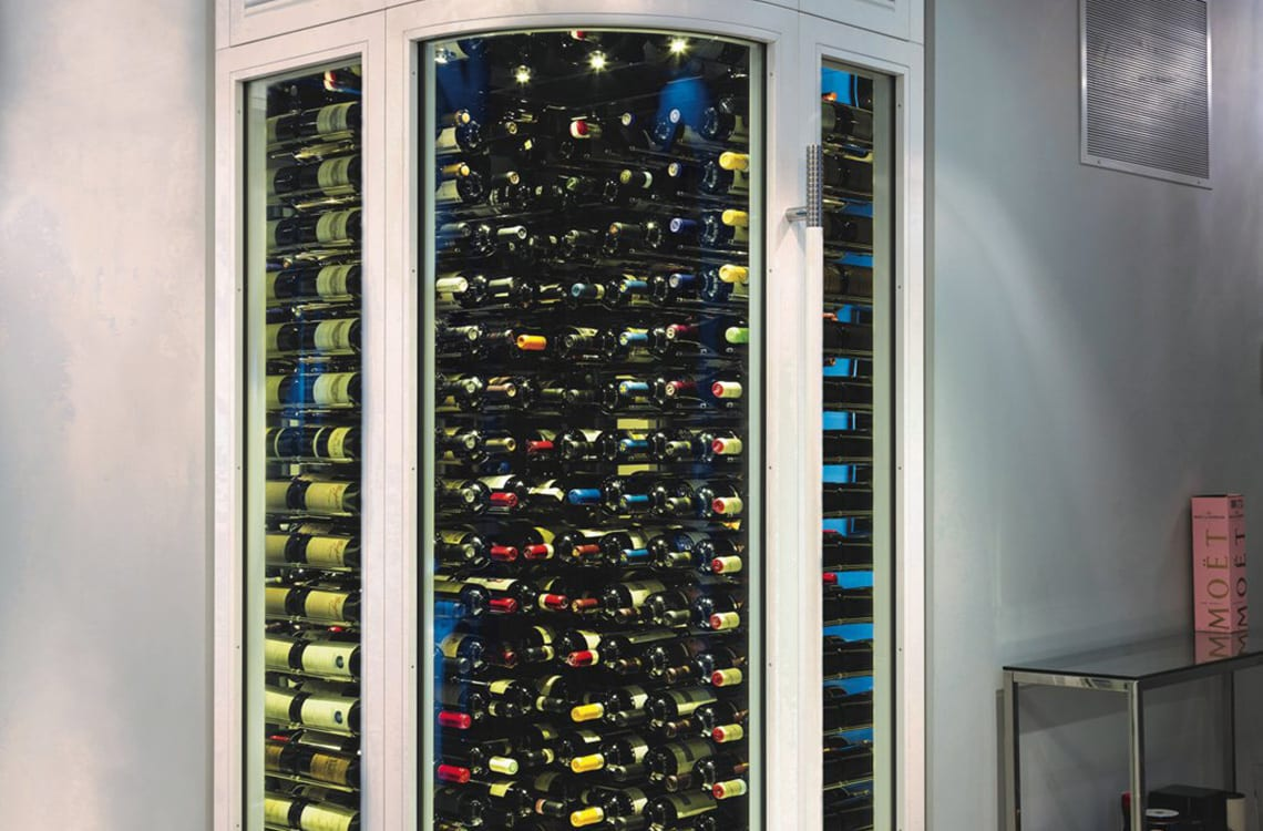 Corner Wine Cabinet in a Luxurious Condo