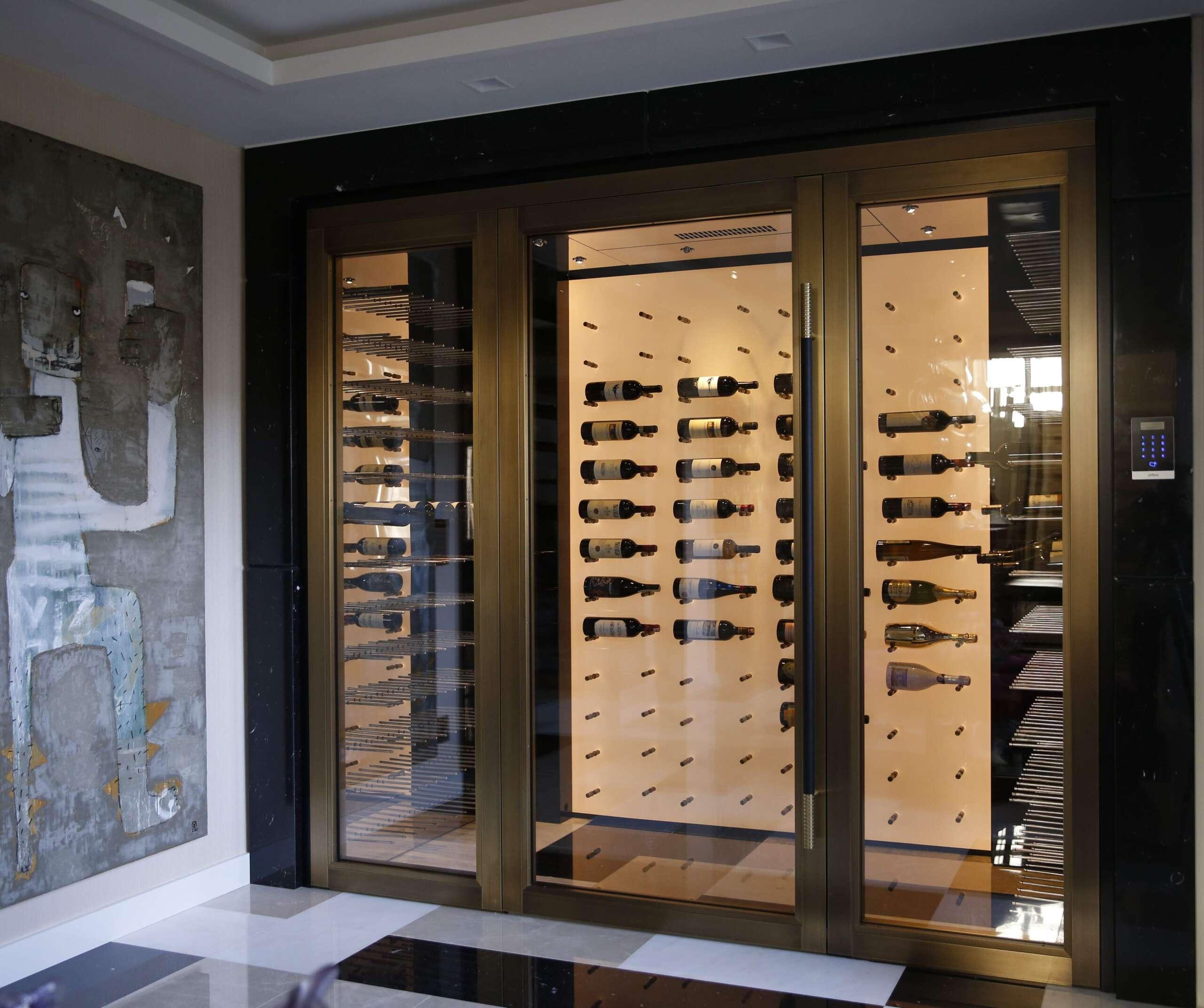 Contemporary Residential Wine Cellar